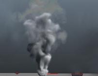 3D Smoke Fluid Simulation