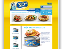 Atun Pacifico Azul Web Design