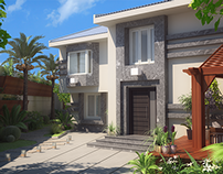 3D Visualization of a Villa Exterior