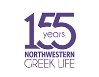 155 Years of Northwestern Greek Life Logo