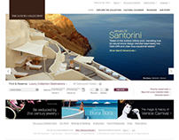 The Luxury Collection Site Design