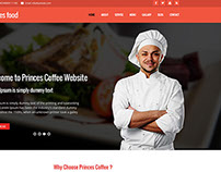 Prince food website  Template