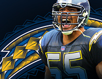 Junior Seau: Hall of Fame Induction Concept Art