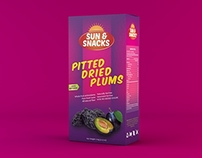 Pitted dried plums packaging