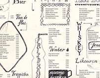 Lettering / Logo for Café Bornhem / Menu