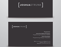 Business Card for Joshua Strunk