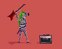 Punk Rock Zebra!