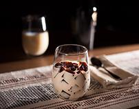 Coffee gelatin recipe photoshoot