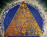 pyramid on canvas
