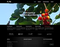 Webová stránka s autorskými fotografiami
