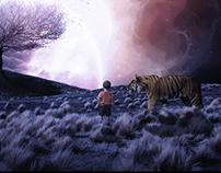 Boy, Tiger and Tree