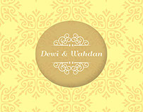 Wedding Invitation : Dewi & Wahdan