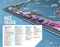Volvo Ocean Race - 3D village maps