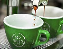 GREEN CAFE Visual identity design.