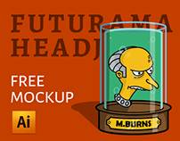 Futurama headjar (free AI mockup)