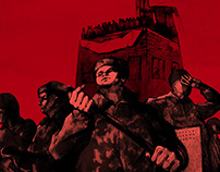 Prison Riot. Illustrations for Snob magazine.
