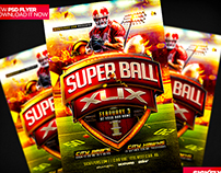 SuperBowl 2015 Flyer Template