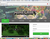 Minecraft Homepage Redesign