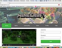 Minecraft Homepage Redesign