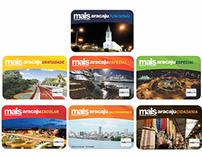 Layout cartões inteligantes Bilhetagem Eletrônica