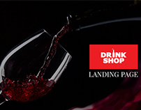 Drinkshop - Landing page