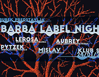 Identity for Barba Label Night - 1