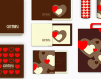 Carmesi Chocolates // Packaging + Website