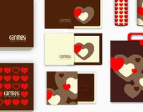 Carmesi Chocolates // Packaging + Website