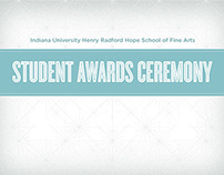 Indiana University Student Awards Ceremony Program
