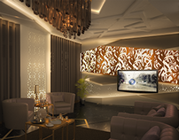 3D Visualization of an Arabian Themed Living Room (2)