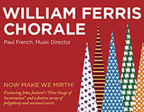William Ferris Chorale postcards and posters 2014-2015