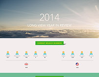 2014 Year in review infographic