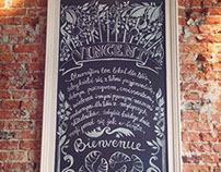 Chalk board / Vincent Cafe