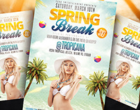 Spring Break Party Flyer PSD + FB Cover