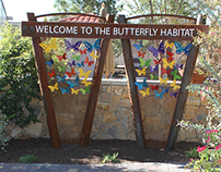 Butterfly Habitat Donor Sign