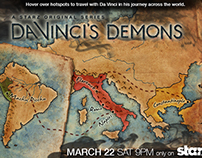 STARZ Interactive Map for Da Vinci's Demons