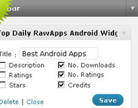 Raw Apps, WordPress Widget