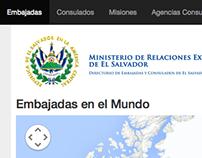 Directorio de Embajadas y Consulados de El Salvador