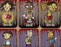 THAI DEVIL CARD GAME ILLUSTRATION