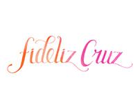Fideliz Cruz - Hand drawn logotype