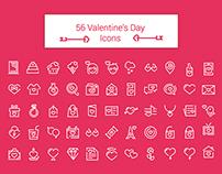 56 Valentine's Day Icons