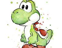 Mario Watercolor Paintings