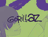 Gorillaz CD Cover.