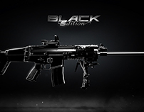 """Key Art """"Black Edition"""" weapon for Ghost Recon Phantoms"""