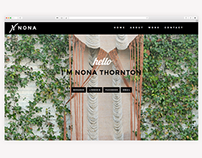 Nona Thornton Parallax Scrolling Portfolio Web Site