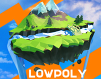 Low-poly landscape 3D