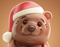 3D chocolate bear
