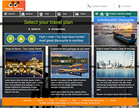 Micro-site for Travel Combo Offer (Assignment concept)