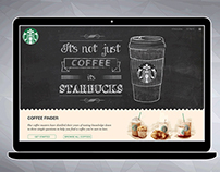Concept of responsive website for Starbucks