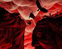 La tierra de Alvargonzález (theater play poster)